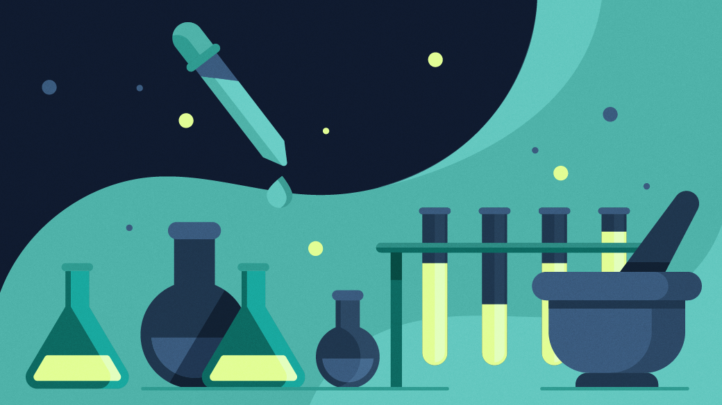 Graphics of science supplies.